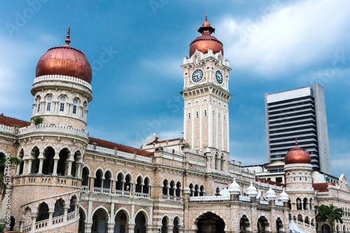 Sultan Abdul Samad building in Independence or Merdeka Square Kuala Lumpur - Mal Canvas Print