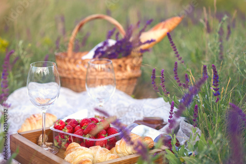 Staande foto Picknick Picnic in the meadow