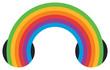 Rainbow icon multicolored ribbon