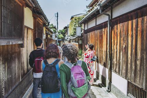Fotografiet 京都観光をする外国人