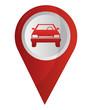 car transport pointer gps navigation location image vector illustration