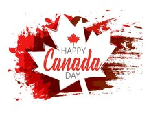 Creative Abstract, Banner Or Poster Or Flyer  For Happy Canada Day With Nice And Creative Design Illustration.