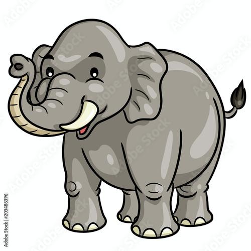 Photo  Elephant Cartoon Cute Illustration of cute cartoon elephant.