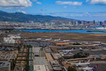 Aerial View Of Downtown Honolu...