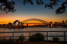 Sydney Icons At Sunset