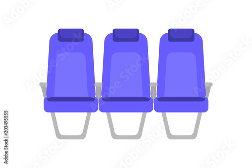 Cuadros en Lienzo Vector flat colorful illustration of blue seat
