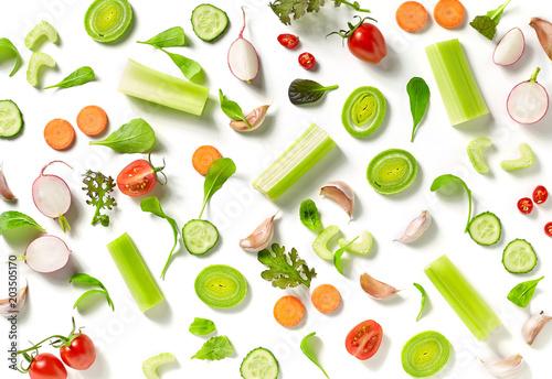 Foto op Plexiglas Groenten various fresh vegetables
