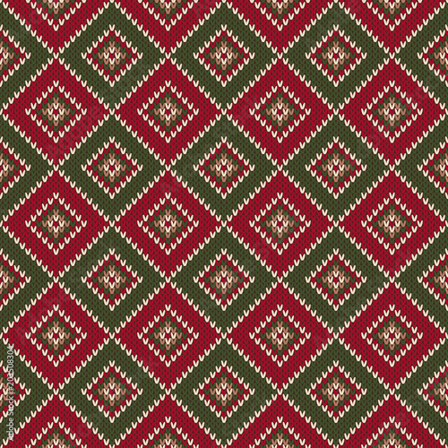 631a74607f08 Abstract Seamless Knitting Pattern. Christmas Sweater Design. Wool ...