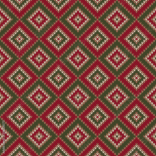 8ab02e059d83 Abstract Seamless Knitting Pattern. Christmas Sweater Design. Wool Knit  Texture Imitation