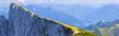 Panoramablick vom Schafberg  auf die Schafbergspitze (Spinnerin)