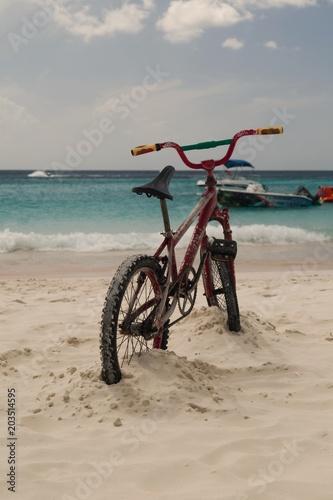 Foto op Plexiglas Fiets Sand Stand