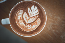 Hot Chocolate With Latte Art
