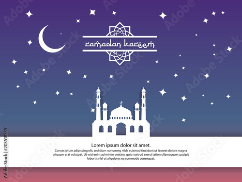 Mosque moon and stars element design for ramadan kareem islamic mosque moon and stars element design for ramadan kareem islamic greeting invitation banner or m4hsunfo