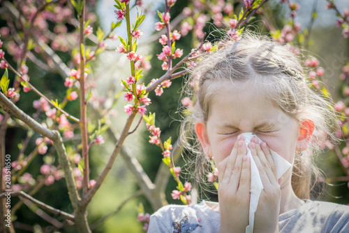 Photo Suffering from pollen allergy or asthma