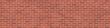 Leinwanddruck Bild - Background texture of red brick wall