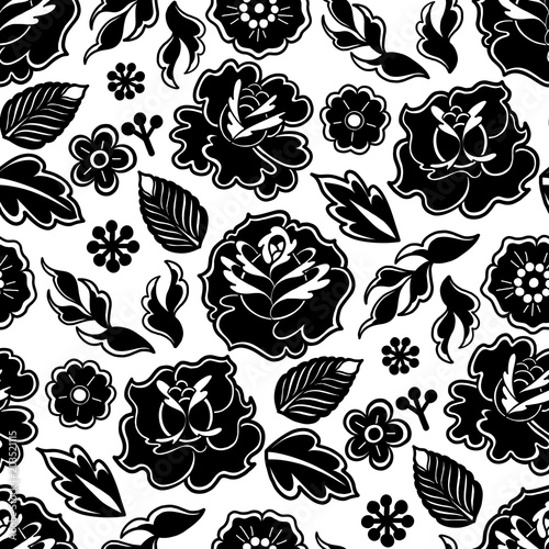 Photo Graphic floral pattern