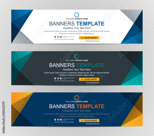 Fototapeta Abstract Web banner design background or header Templates obraz