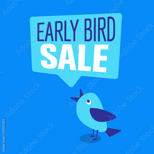 Photo  Early Bird Special discount sale event banner or poster