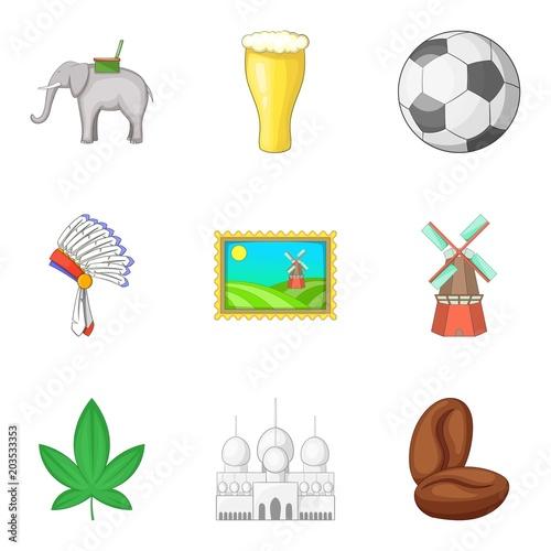 Fotografía  Mainland icons set