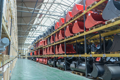 Storage facility in engineering factory