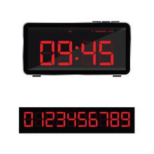 Digital Clock Illustration And...
