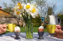 Spring Breakfast In The Garden...