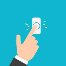 Hand Pressing Doorbell Button
