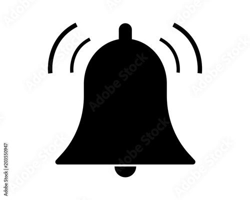 Cuadros en Lienzo Bell pictogram vector icon