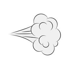 Cartoon Blow, Comic Smoke Isol...