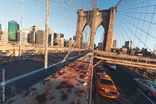 In de dag New York City Brooklyn Bridge - NYC