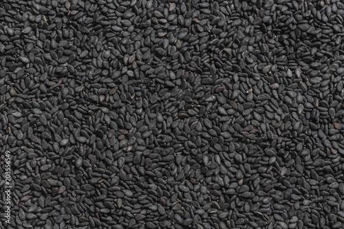 Fotografía  Ziarna czarnego sezamu