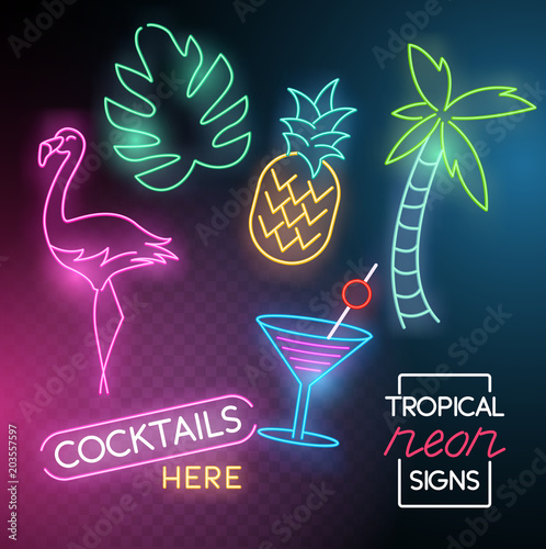 Foto  Tropical Neon Light Signs