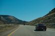 Amazing sunlight near Monument Valley, Arizona, USA, Highway in Monument Valley, Utah, Arizona, USA, Recreational vehicle on the highway, Monument Valley, USA