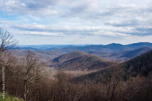 Fotobehang Chocoladebruin Blue ridge mountains. Panorama. USA