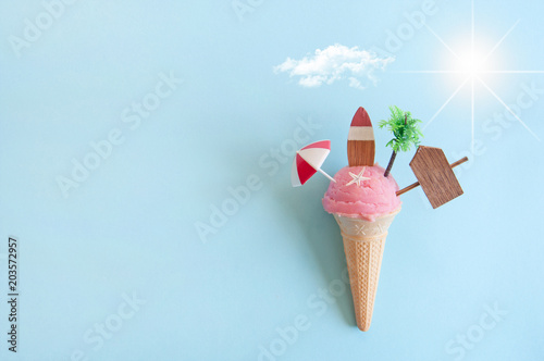 Obraz Summer icecream concept - fototapety do salonu