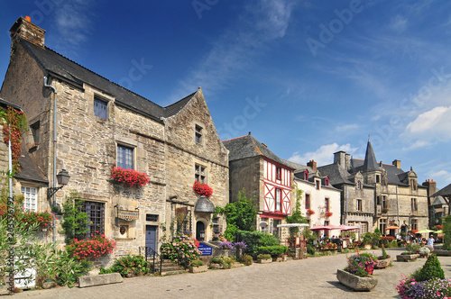 Fototapeta Medieval houses at Rochefort en Terre Brittany in north western France