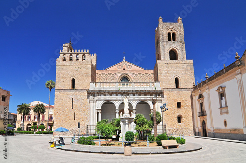 Keuken foto achterwand Palermo Cathedral Santa Maria Nuova of Monreale near Palermo in Sicily Italy.