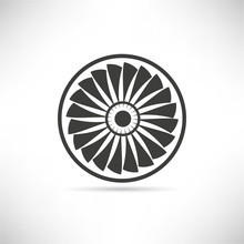 Jet Engine Turbine, Wind Turbine Icon