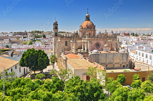 The Cathedral in Jerez de la Frontera, Cadiz Province, Andalucia, Spain.