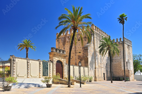 Alcazar in the town of Jerez de la Frontera, Costa de la Luz, Province of Cadiz, Andalusia.