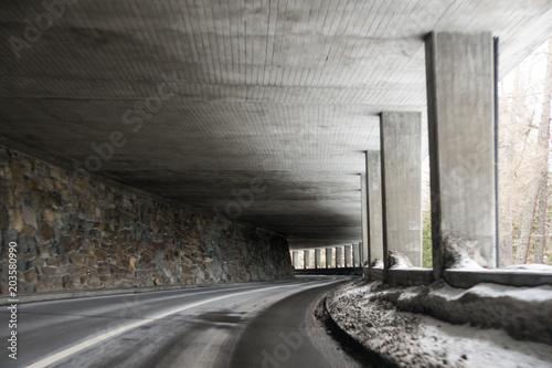 Deurstickers Rudnes Interior of a high-altitude tunnel.