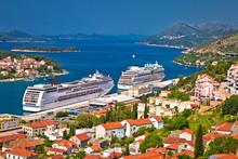 Dubrovnik Harbor And Archipelago Aerial View