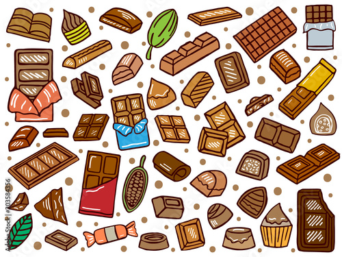 hand drawn chocolate doodle