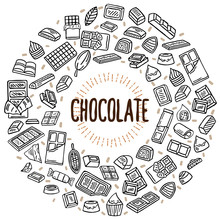 Chocolate Vector Doodle Illust...