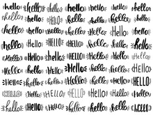 Set Of Hello Lettering