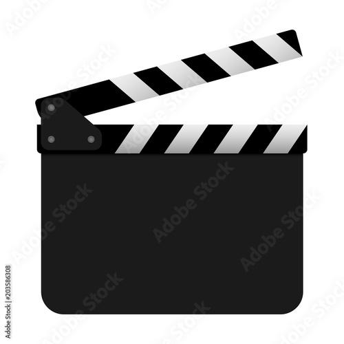 Valokuva Film clapper board on white background. Vector
