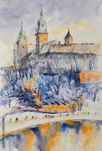 smok-symbol-polskiego-miasta-krakow-spiacy-pod-wawelem-obraz-utworzony-za-p