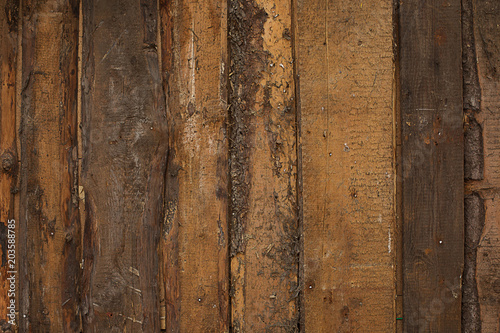 Papiers peints Bois texture background old natural wooden untreated dark of boards