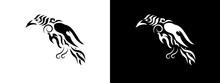 Tribal Raven Illustration.