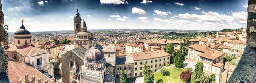 Fotografie, Obraz  Bergamo Alta aerial panoramic view in summer season